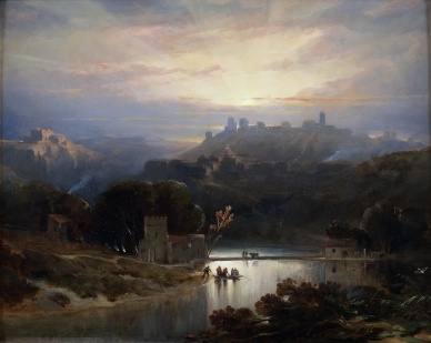 "David Roberts (Scottish, 1796-1864), ""The Castle of Alcalá de Guadaíra"" (1833)"