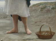 "Eugene de Blaas (Italian, 1843-1932), ""On the Beach"" (detail)"