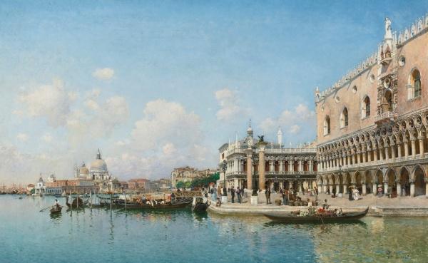Federico del Campo, The Doge's Palace and Santa Maria della Salute